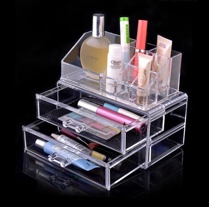 Cosmetic Organizer Drawers Clear Acrylic Jewellery BOX Makeup Storage ...